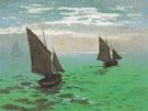 Claude Monet : Fishing Boat at Sea 1868 : $389