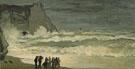 Claude Monet : Rough Sea at Etretat 1868 : $385