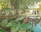 Claude Monet : Bathers at La Grenouillere Bougival Summer 1869 : $389