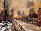 Claude Monet : Road to Louveciennes Melting Snow Sunset 1870 : $389
