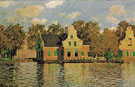 Claude Monet : Houses on the Zaan River 1871 : $399