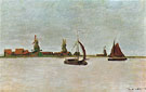 Claude Monet : The Voorzaan at Zaandam 1871 : $389