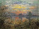 Claude Monet : Marine View Sunset 1874 : $399