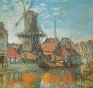 Claude Monet : Windmill at Amsterdam 1874 : $379