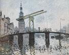 Claude Monet : The Drawbridge at Amsterdam 1874 : $389