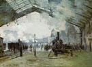 Claude Monet : The Gare Saint Lazare 1876 : $389
