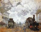 Claude Monet : Gare Saint Lazare Arrival of a Train 1877 : $389