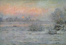 Claude Monet : Snow Covered Landscape Dusk 1880 : $389