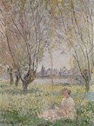 Claude Monet : Woman Seated under the Willows 1880 : $389