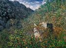 Claude Monet : Valley of Sasso Bordighera 1884 : $399