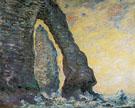 Claude Monet : Cliffs at Etretat 1886 : $389
