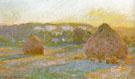Claude Monet : Hay Stacks End of Summer 1890 : $389