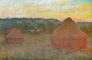 Claude Monet : Hay Stacks End of Day Autumn 1890 : $369