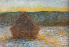 Claude Monet : Hay Stacks Thaw Sunset 1890 : $389