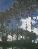 Claude Monet : Poplars Banks of the Epte 1891 : $389