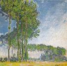 Claude Monet : Poplars View from the Marsh 1891 : $395