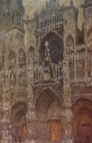 Claude Monet : Rouen Cathedral Facade Grey Day 1892 : $389