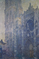Claude Monet : Rouen Cathedral Facade and Tower Morning Effect 1892 : $385
