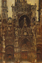 Claude Monet : Rouen Cathedral the Portal Seen Head on Harmony in Brown 1892 : $389