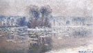 Claude Monet : Ice Floes Bennecourt 1893 A : $389