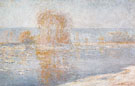 Claude Monet : Ice Floes Bennecourt 1893 B : $389