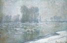 Claude Monet : Ice Floes Morning Haze 1893 : $389