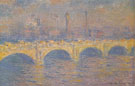 Claude Monet : Waterloo Bridge London Sunlight Effect 1903 : $389