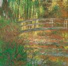 Claude Monet : The Water Lily Pond Japanese Bridge 1900 : $389