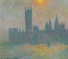 Claude Monet : Parliament Sunlight Effect in the Fog 1904 : $369