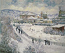 Claude Monet : Argenteuil Under the Snow 1875 : $399