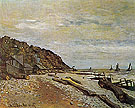 Claude Monet : Beach at Honfleur 1864 : $399