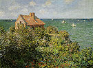 Claude Monet : Fishermans Cottage on the Cliffs at Varengeville 1882 : $389