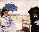 Claude Monet : On the Beach at Trouville  : $385