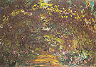 Claude Monet : Path in the Rose Garden at Giverny 1920 : $389