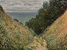 Claude Monet : Road at La Cavee Pourville 1882 : $399