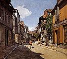 Claude Monet : Rue de La Bavolle Honfleur 1864 : $379