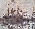 Claude Monet : Ships in a Harbor c1873 : $379