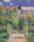Claude Monet : The Artists Garden at Vetheuil 1881 : $395