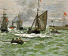Claude Monet : The Entrance to the Port of Honfleur 1868 : $379