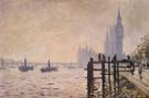 Claude Monet : The Thames at Westminster 1871 : $389