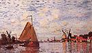 Claude Monet : The Voorzaan at Zaandam 1871 : $389