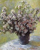 Claude Monet : Vase of Flowers 1881 : $389