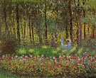 Claude Monet : The Monet Family in Their Garden at Argenteuil Spring 1875 : $389