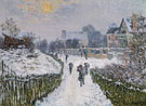 Claude Monet : Boulevard Saint Denis Argenteuil in Winter 1875 : $389