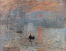 Claude Monet : Impression Sunrise Le Havre 1872 : $389