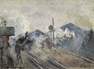 Claude Monet : Exterior View Back to the Gare Saint Lazare 1877 : $389