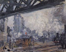 Claude Monet : The Pont de Rome Gare Saint Lazare 1877 : $389