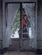 Claude Monet : Mme Monet ina Red Cape Argenteuil 1873 : $369