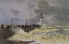 Claude Monet : The Jetty at Le Havre 1868 : $389