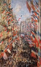 Claude Monet : Rue Montorguell Paris Festival of June 30 1878 : $379